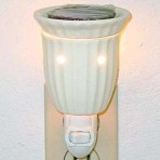 Ivory Rippled Night Light / Tart Warmer